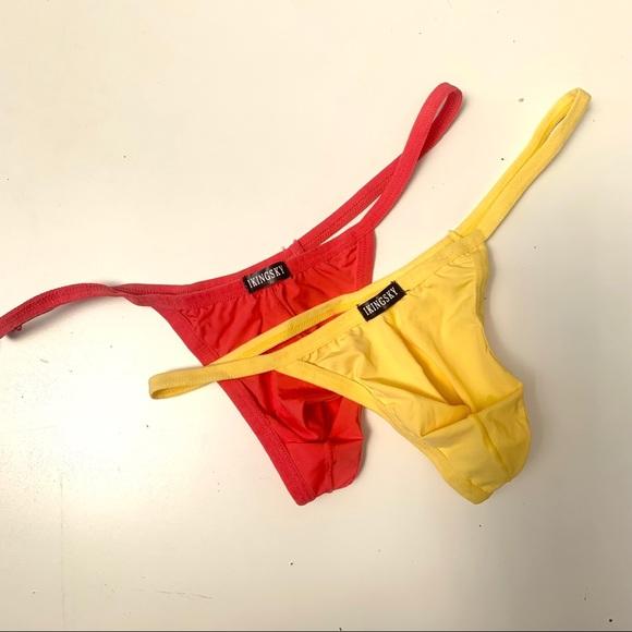 2Pk Men's Solid Thong